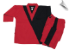 8 oz V-Neck Team Uniform - Red with Black