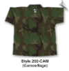 8.5 oz V-Neck Martial Arts Top - Camouflage