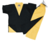 8 oz V-Neck Team Uniform - Black and Gold