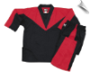 8 oz V-Neck Team Uniform - Black with Red