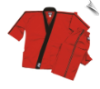 8 oz Karate Team Uniform - Red with Black
