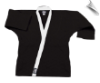 8.5 oz Super-Middleweight Karate Jacket - Black with White