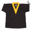 8.5 oz V-Neck Martial Arts Top - Black with Gold