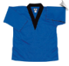 8.5 oz V-Neck Martial Arts Top - Blue with Black
