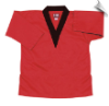 8.5 oz V-Neck Martial Arts Top - Red with Black