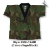 8.5 oz V-Neck Martial Arts Top - Camo with Black (SKU: 6500-CAMB)