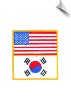 American Korean Flag Patch - 5 Pack