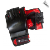 Leather MMA Fight Gloves - Black/Red