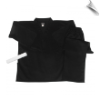 8.5 oz V-Neck Martial Arts Uniform - Black (SKU: 200-B)