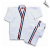 8 oz Karate Team Uniform - White with Red, White & Blue Stripes (SKU: 2009-W)