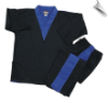 8 oz V-Neck Team Uniform - Black with Blue (SKU: 212-BBL)