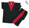8 oz V-Neck Team Uniform - Black with Red (SKU: 212-BR)