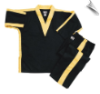8 oz V-Neck Team Uniform - Black with Gold (SKU: 250-BGO)