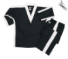 8 oz V-Neck Team Uniform - Black with White (SKU: 250-BW)