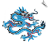 Blue & Gold Dragon Patch - 5 Pack (SKU: 2522)