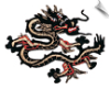 Black & Red Dragon Patch - 5 Pack (SKU: 2523)