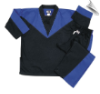 8 oz V-Neck Team Uniform - Black with Blue (SKU: 290-BBL)