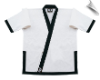 14 oz Super-Heavyweight Karate Jacket - White with Black
