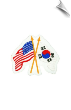 USA/Korean Flag Patch - 5 Pack (SKU: 2166)