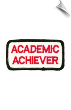 Academic Achiever Patch - 5 Pack (SKU: 2187)