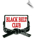 Black Belt Club Patch - 5 Pack (SKU: 2481)