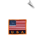 USA Flag Patch - 5 Pack (SKU: 2527)