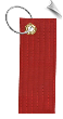 Martial Arts Solid Color Rank Belt Key Chain