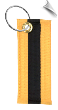 Martial Arts Belt Key Chain w/Black Stripe