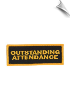 Outstanding Attendance Patch - 5 Pack (SKU: 2529)