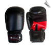Artificial Leather Boxing Gloves - 12 oz - Black/Red (SKU: 101-BR-12)