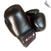 Leather Boxing Gloves - 12 oz - Black/Red (SKU: 102-BR-12)