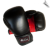 Leather Boxing Gloves - 12 oz - Black/Red (SKU: 103-BR-12)