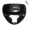 Leather MMA Headgear - Black (SKU: 111-B)