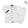 8 oz Middleweight Kung Fu Uniform - White with Black (SKU: 1390)