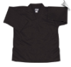 8.5 oz V-Neck Martial Arts Top - Black (SKU: 202-B)