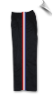 8 oz Middleweight Karate Pants - Black with Red, White & Blue Stripes (SKU: 218-B)