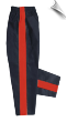 8 oz Middleweight Karate Pants - Black with Red Stripe (SKU: 250-BRP)