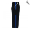 Martial Arts Cargo Pants - Black With Blue Stripes (SKU: 6205-BBL)