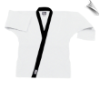 8.5 oz Super-Middleweight Karate Jacket - White with Black (SKU: 6300-WB)