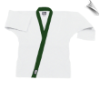 8.5 oz Super-Middleweight Karate Jacket - White with Forest Green (SKU: 6300-WFG)