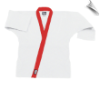 8.5 oz Super-Middleweight Karate Jacket - White with Red (SKU: 6300-WR)