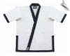 8.5 oz Super-Middleweight Karate Jacket - White with Navy (SKU: 6400-WDN)