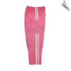 Martial Arts Cargo Pants - Pink With White Stripes