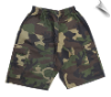 Martial Arts Cargo Shorts - Camo With Black Stripes