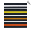 Black Martial Arts Rank Belt with Colored Stripe