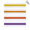 White Martial Arts Rank Belt with Colored Stripe (SKU: Belt-WCS)